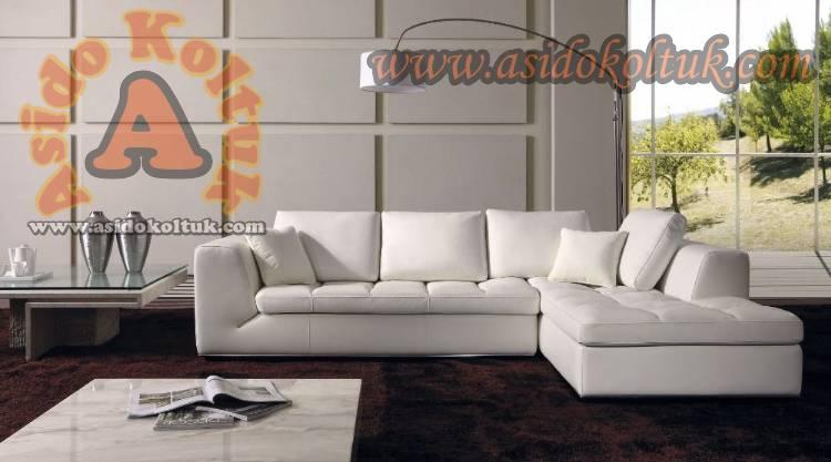 Beyaz Tasarım Köşe Koltuk Takımı Yeni Tasarım Modeller
