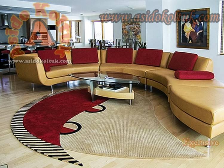 Dekoratif Lüx Ofis Koltuk Takımı Yuvarlak