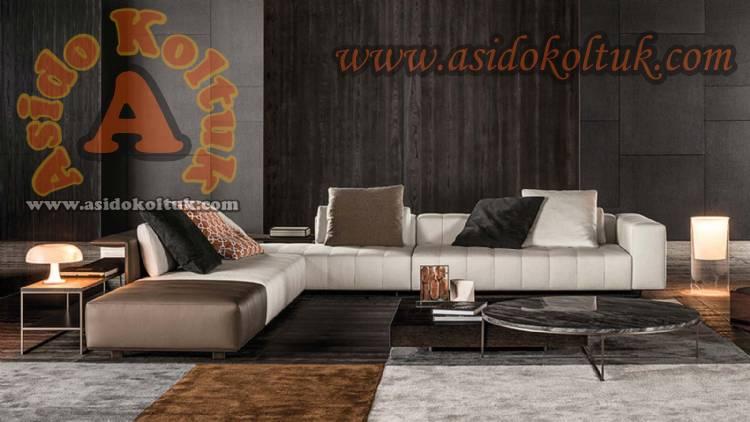 Dilimli Tasarım L Koltuk Takımı Modern Ecksofa Exklusive