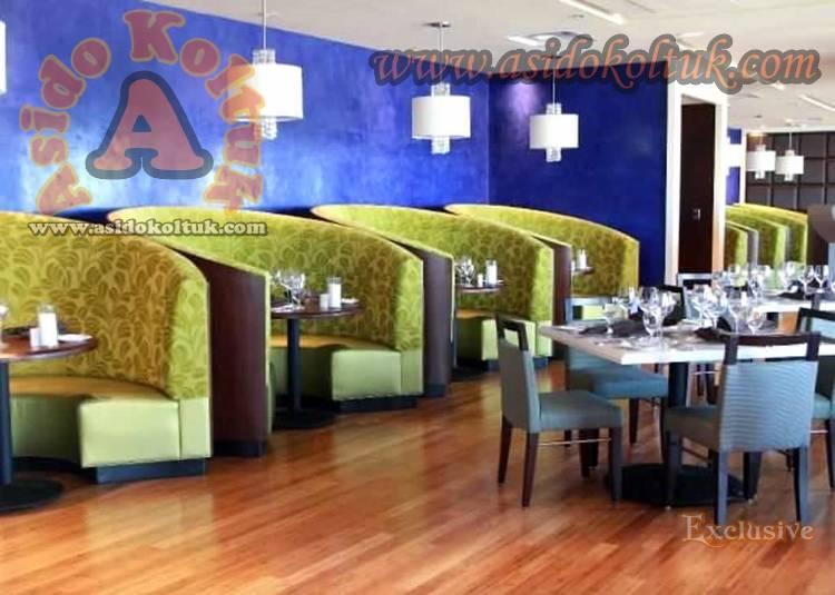 Restoran Kafe Özel Yuvarlak Sedirler