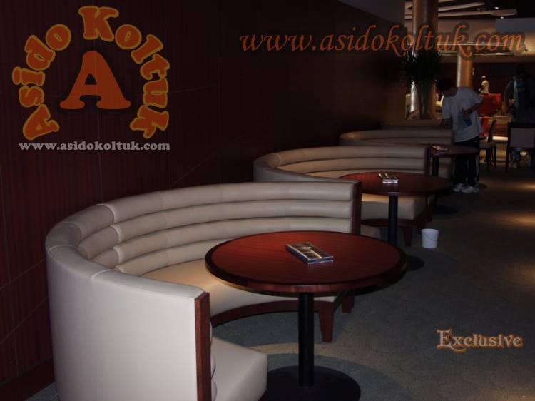 Yuvarlak Sedir Koltuklar Restoran Kafe Tasarımları