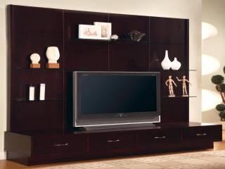 Cam Raflı Modern Tv Ünitesi Özel Ölçü Üretim