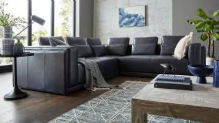 Deri Siyah Modern Köşe Koltuk Takımı Yeni Tasarım Modeller