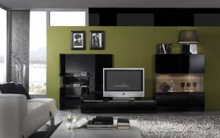 Modern Tv Üniteleri Siyah Parlak Tasarım