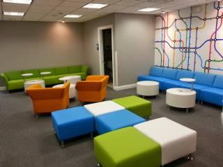 Renkli Dekoratif Ofis Bekleme Odası Koltuk Takımı