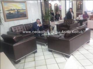 Deri Koltuk Takımı - Bekdaş Otel Lobisi - Laleli