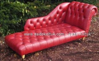 Kırmızı Josefin Koltuk, Dekoratif İstirahat Kanepesi