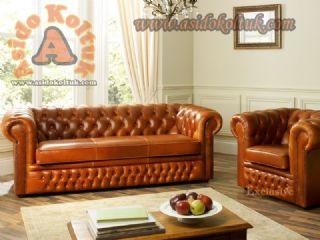 parlak portakal chester koltuk modeli klasik tasarım