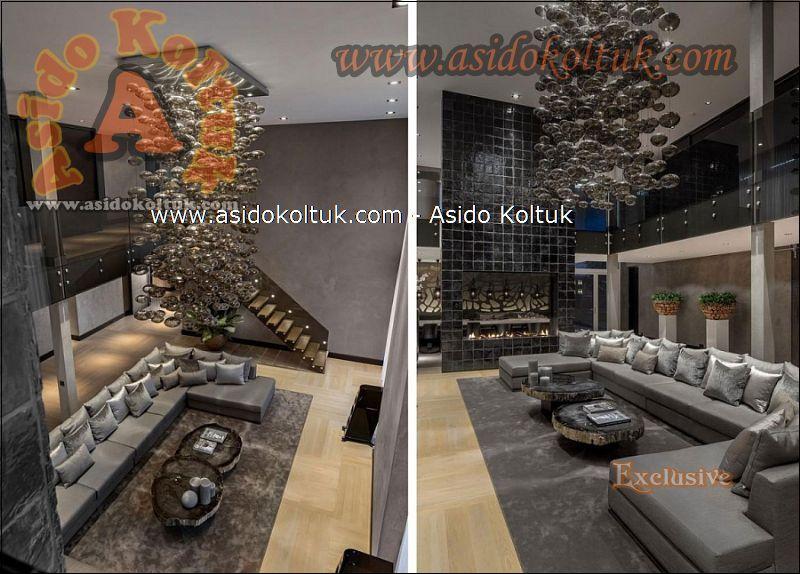 Modern Köşe koltuk Takımı büyük salonlar ve lobiler için ideal