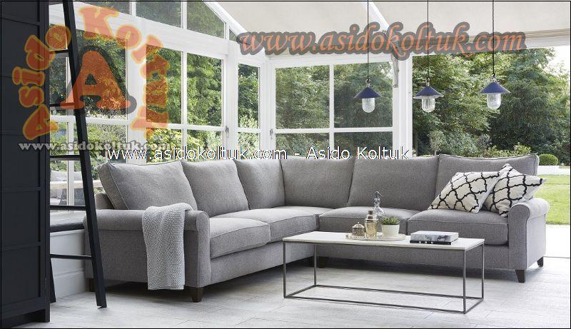 Modern Klasik karışımı Rahat L köşe koltuk takımı