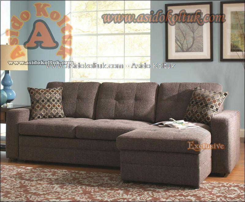 Modern Yataklı sandıklı l köşe koltuk takımı